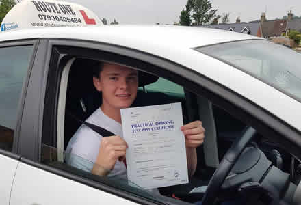 Another pupil successful with their driving lessons