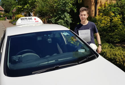 Successful Thetford driving school pupil