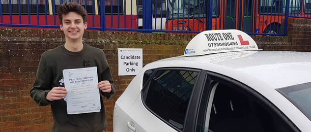 Another pupil passes his driving test, Bury St Edmunds
