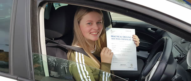 Thetford pupil passes driving test with Route One School of Motoring